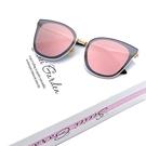 歐美精品墨鏡 貓眼太陽眼鏡 粉水銀 獨家精品款 CP值超高 抗紫外線UV400