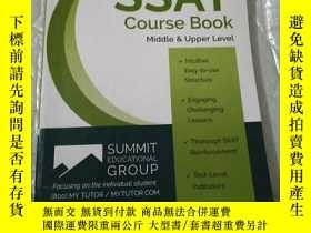二手書博民逛書店The罕見SSAT Course Book Middle & U