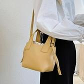 水桶包 夏天水桶包女手提包包2021新款潮小眾設計菜籃包單肩包百搭斜挎包  卡洛琳