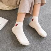 半掌襪 短襪 襪子女短襪夏季純棉日系韓國短筒棉襪白色女襪薄款運動防滑中筒潮
