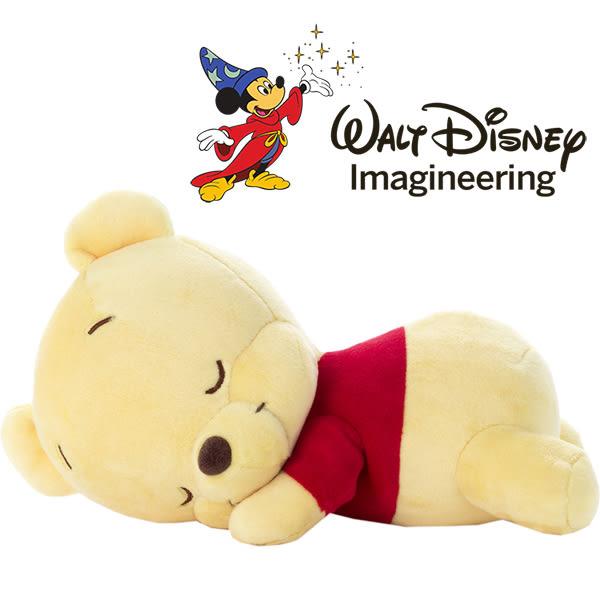 迪士尼 新品 小熊維尼 睡覺抱枕娃娃 超柔軟 日本正版 該該貝比日本精品 ☆