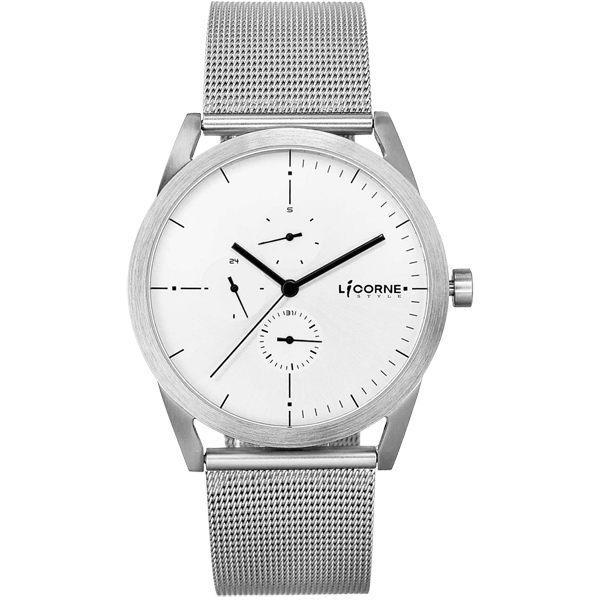 LICORNE    砌系列三眼腕錶-銀x白x大