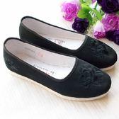 老北京純手工千層底布鞋麻繩納底鞋繡花鞋媽媽鞋奶奶單鞋布底女鞋