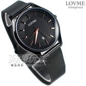 LOVME 簡約風格品味 藍寶石抗磨水晶玻璃 米蘭帶 不銹鋼 IP黑電鍍 男錶 VM1053M-33-341