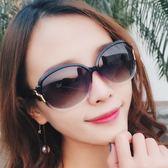 新款墨鏡女潮經典女士太陽鏡圓臉大框優雅太陽鏡防紫外線駕駛鏡女【卡米優品】