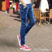牛仔褲 夏季薄款彈力男士牛仔褲男休閒修身小腳褲韓版潮流黑色直筒長褲子  瑪麗蘇