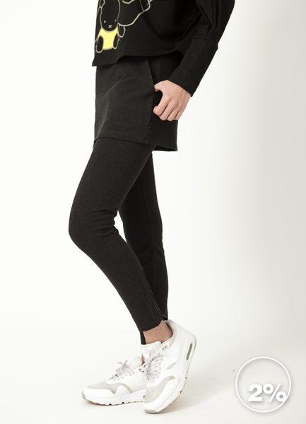 【2%】新品  顯瘦修身綁腿褲_黑