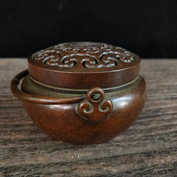 銅手爐熏爐 觀音佛像 獅子貔貅 筆架筆擱 復古懷舊實用收藏品相佳