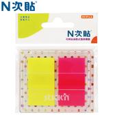 【N次貼】66033 2色-40張抽取式螢光透明標籤