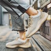 新款春季男鞋韓版潮流休閒戶外運動百搭夏季飛織網紅跑步潮鞋 時尚芭莎