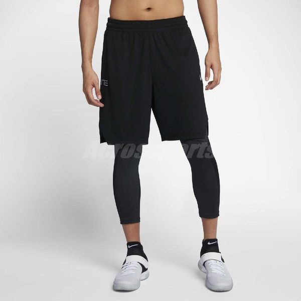Nike 短褲 Short Pro Practice Elite 男款 菁英 籃球褲膝上 短版 運動褲 素面 黑【PUMP306】 855478-010