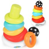 鑫思特疊疊樂彩虹塔套圈嬰兒二合一玩具兒童寶寶益智套杯疊疊杯【樂購旗艦店】