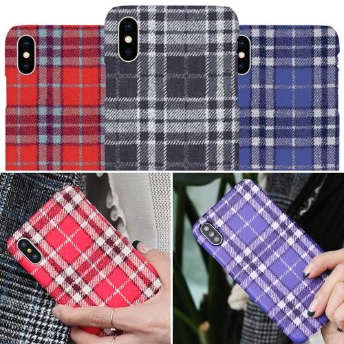 韓國 仿毛線格紋 硬殼 手機殼│iPhone 6 6S 7 8 Plus X XS MAX XR 11 Pro LG G7 G8 V40 V50│z8789