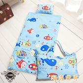 100%精梳純棉冬夏兩用多功能加大版兒童睡袋【海底世界】