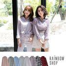 現貨-經典合身多款格紋襯衫-A-Rainbow【A025015】