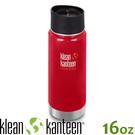 【KLEAN KANTEEN 美國 16盎司KK環形寬口保溫鋼瓶(54mm)《寶石紅》】K16VWPCC/保溫瓶