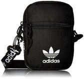 KUMO SHOES-Adidas Originals Festival Bag 三葉草 側背包 腰包 黑 滿版 CL2965