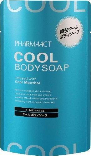 日本 熊野 PHARMAACT 酷涼沐浴乳補充包 400mL 【5210】