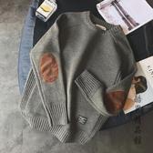 2018新款加厚男士毛衣韓版潮流帥氣個性貼布百搭針織打底衫男線衫 酷男精品館