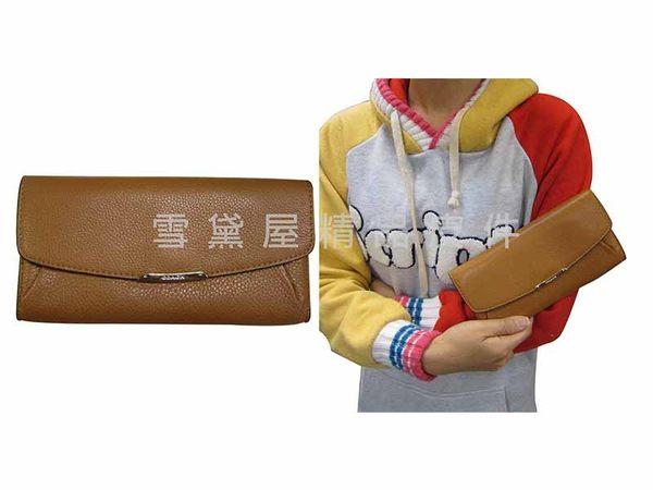 ~雪黛屋~COACH長夾國際正版女用長型皮夾二折暗釦蓋式主袋進口防水防刮皮革不折鈔 F49595