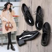 春季新款一腳蹬ins小皮鞋女學生韓版百搭ulzzang原宿中跟英倫 居享優品