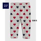 Gap女嬰兒 柔軟舒適鬆緊腰緊身褲 395540-淺麻灰