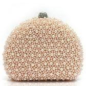 珍珠晚宴包-甜美可愛新娘婚禮女手拿鏈條包3色71as43【巴黎精品】