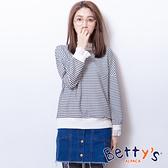 betty's貝蒂思 前排釦下擺抽鬚牛仔褲裙(深藍)