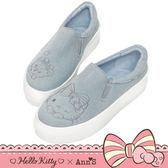 HELLO KITTY X Ann'S 花園系列牛仔布厚底懶人鞋-藍