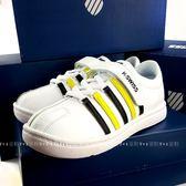 美國K-SWISS 休閒滑板運動鞋CLASSIC BOUNCE VLC 《7+1童鞋》5098白色