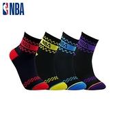 【南紡購物中心】【NBA運動配件館】NBA襪子 平版襪 短襪 經典緹花短襪(6雙組)