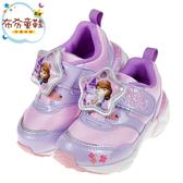 《布布童鞋》Moonstar蘇菲亞小公主LED電燈紫色兒童機能運動鞋(15~19公分) [ I0D499F ]