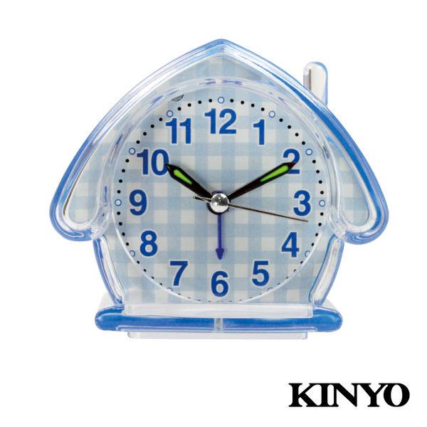KINYO房屋造型靜音鬧鐘TB-710