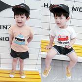 夏裝男童短袖t恤寶寶小汽車體恤兒童純棉上衣嬰兒半袖衣服潮艾美時尚衣櫥