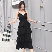(交換禮物)大尺碼洋裝 新款2019韓版寬鬆顯瘦大碼仙女中長款打底減齡連身裙
