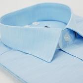 【金‧安德森】藍色暗紋竹纖維窄版短袖襯衫