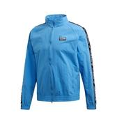 L- adidas ORIGINALS 愛迪達 男款 天空藍 立領 外套 串標 風衣 外套 ED7217