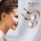 【Q21A55】魔衣子-經典氣質百搭珍珠耳環