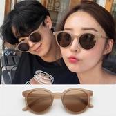 新品墨鏡墨鏡女韓版潮小臉網紅林小宅同款街拍復古圓框太陽鏡防紫外