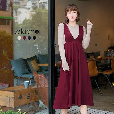 東京著衣-tokichoi-多色雜誌款高腰連身裙-S.M.L(172433)