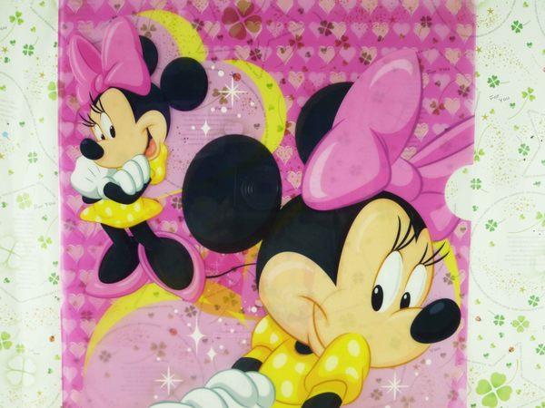 【震撼精品百貨】Micky Mouse_米奇/米妮 ~L夾-粉愛心