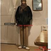 高腰闊腿燈芯絨薄款褲子女加厚寬松顯瘦直筒休閑垂感長褲【CH伊諾】