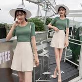 包臀裙 a字裙半身裙女2019夏季新款韓版chic短裙高腰防走光一步裙包臀裙 MKS雙12狂歡