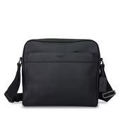 COACH 男款必敗包款預購+現貨素面真皮拉鍊斜背中包-黑色