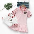 女童洋裝夏裝新款洋氣寶寶polo裙衫中小兒童純棉短袖裙子潮 夏季新品