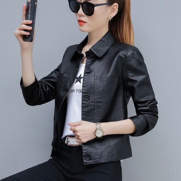 短款外套 皮衣女秋季短外套女2021新款韓版寬鬆百搭外衣春秋短款小夾克秋裝 韓國時尚週 免運