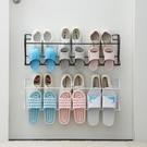 簡易門口鞋架家用室內好看經濟型省空間門后壁掛式拖鞋收納置物架 幸福第一站
