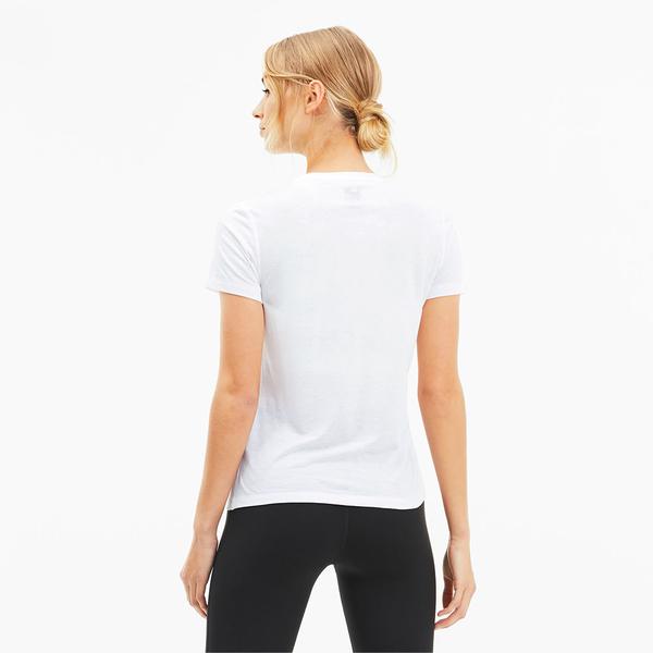 【現貨】PUMA Slogan Crew 女裝 短袖 休閒 排汗 透氣 標語 白 歐規【運動世界】51897205