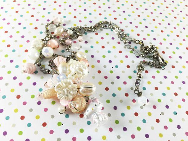 【震撼精品百貨】Charmmy Kitty_寵物貓~造型項鍊-珠珠