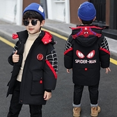 兒童羽絨服 男童棉服冬裝2021新款中大童衣服兒童蜘蛛俠外套羽絨棉衣潮【快速出貨八折鉅惠】